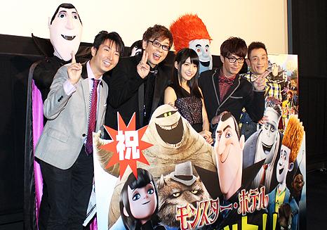(写真左から)有村昆、山寺宏一、川島海荷、藤森慎吾、クリス松村