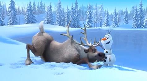 ディズニー最新アニメ映画「Frozen」予告編公開! 雪だるまとトナカイがコミカルにバトル