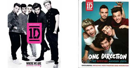 「Where We Are」(左)、「THE OFFICIAL ANNUAL 2014」