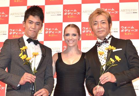 (左から)武井壮、つるの剛士、テリーサ・パーマー