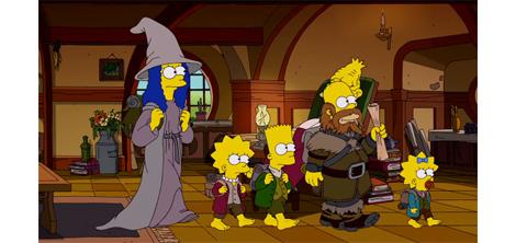 人気アニメ「ザ・シンプソンズ」が「ホビット」をパロディしたオープニングを公開