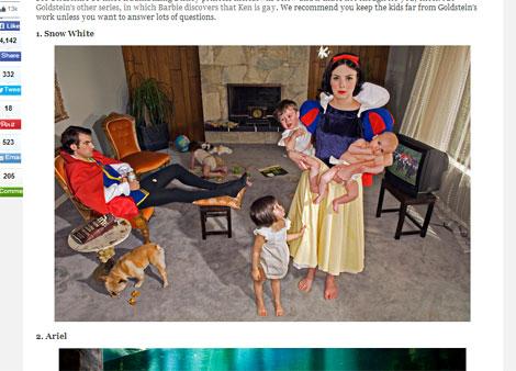 夫の育児不参加にご不満の白雪姫