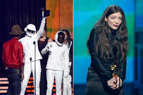 (写真左)ダフト・パンク Getty Images Entertainment (写真右)ロード WireImage