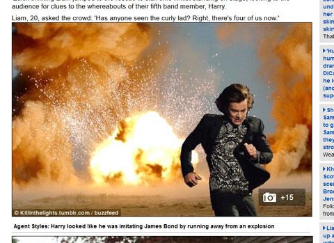 燃え盛る家から逃げるハリー