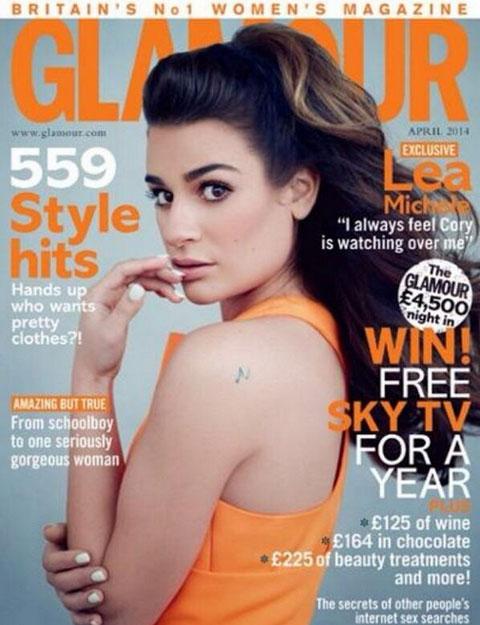 Glamour誌の表紙を飾るリア・ミシェル
