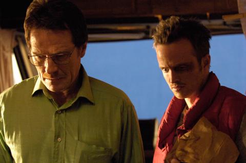 ブライアン・クランストン(左)、アーロン・ポール
