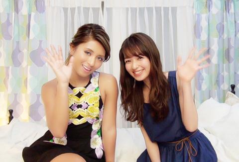 シェネル(左)、森絵梨佳