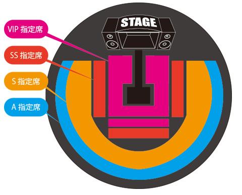 大阪公演の座席表イメージ