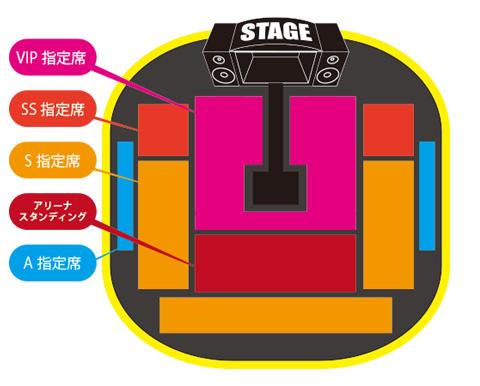 東京公演座席表イメージ