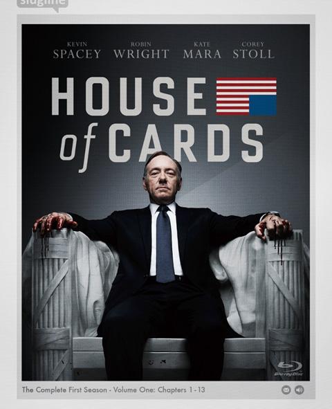 「ハウス・オブ・カード 野望の階段」ブルーレイジャケット写真