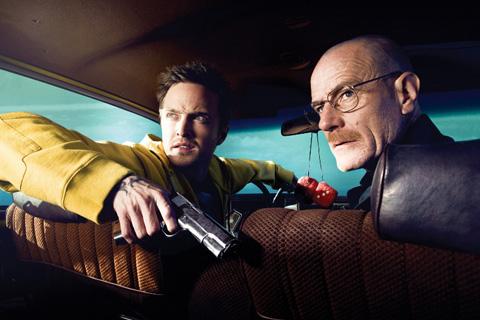 ドラマ「ブレイキング・バッド」より アーロン・ポール(左)、ブライアン・クランストン