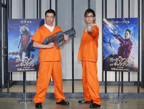加藤浩次(左)、山寺宏一