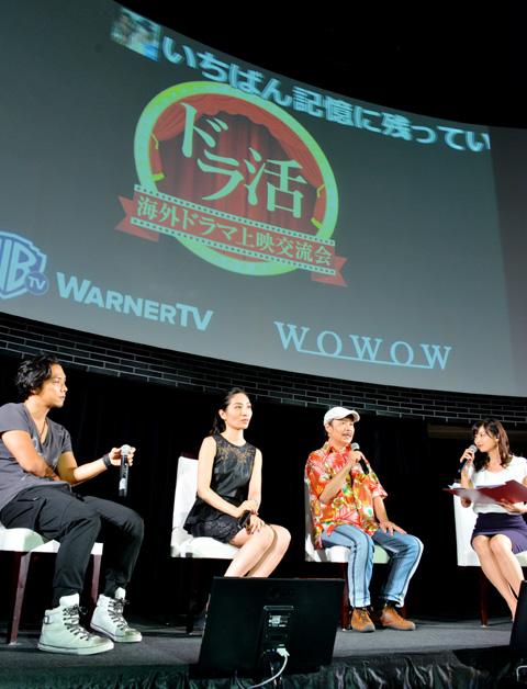 「シェイムレス」シリーズのボイスキャストを務める、(左から)増田裕生さん、坂本真綾さん、梅津秀行さん
