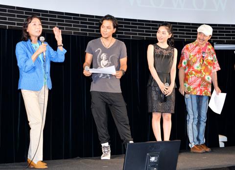 ボイスキャストのみなさん。左から幸田直子さん、増田裕生さん、坂本真綾さん、梅津秀行さん