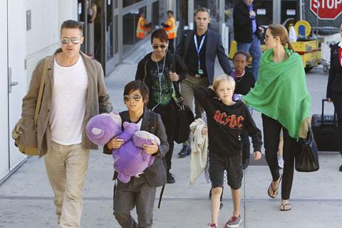 アンジェリーナ・ジョリー、ブラッド・ピットと子どもたち
