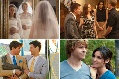 「FOX Wedding Special supported by TASAKI」 (左上より時計回りで)Glee シーズン4、BONES シーズン9、NCIS:LA シーズン3、New Normal おにゅ~な家族のカタチ
