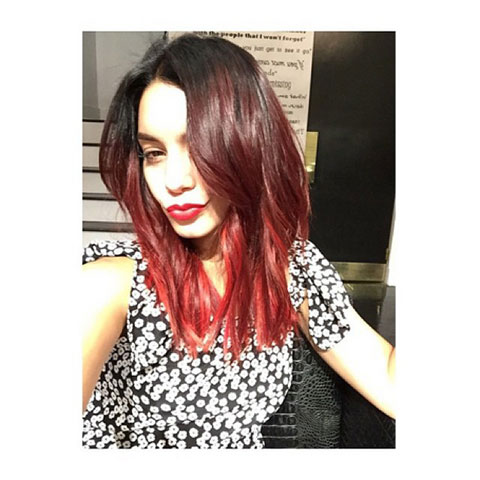 髪色を変えたヴァネッサ