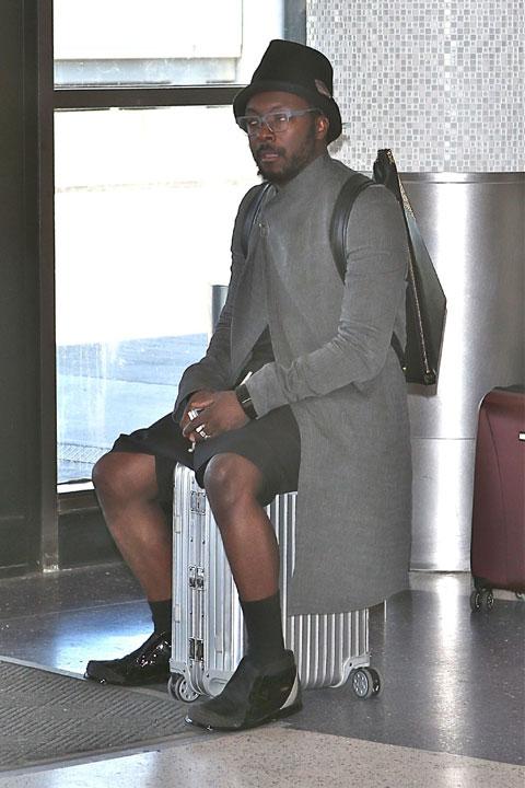 空港で待機中のウィル・アイ・アム (2014年9月撮影)