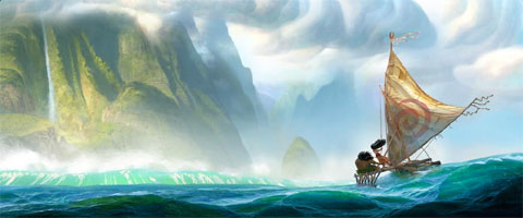 ディズニーが公開した「Moana」のビジュアル