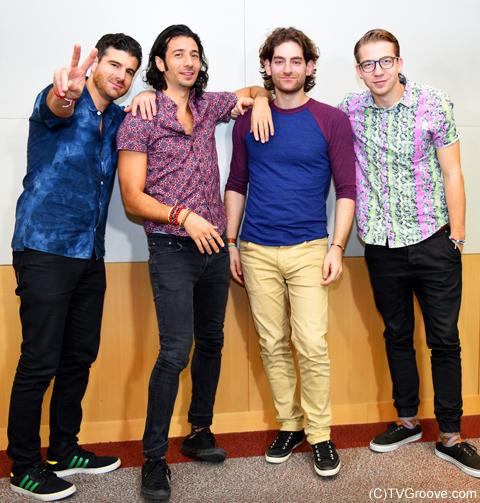 マジック! (左から)マーク、ナズリ、ベン、アレックス (C)TVGroove.com