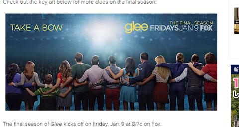 """「glee」最終シーズンのポスター&キャラクター写真が公開! """"カーテンコール""""風画像に、切なさがこみ上げる"""