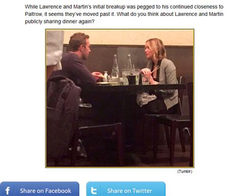 ディナーを楽しむ姿を目撃された2人