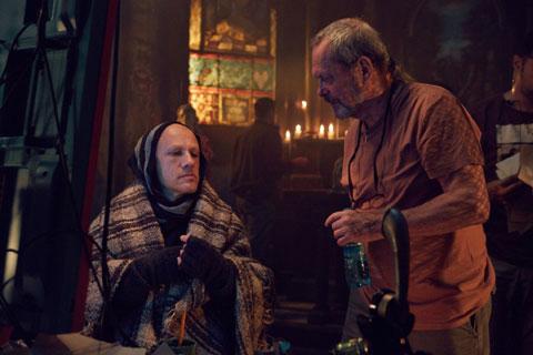 クリストフ・ヴァルツ(左)、テリー・ギリアム監督