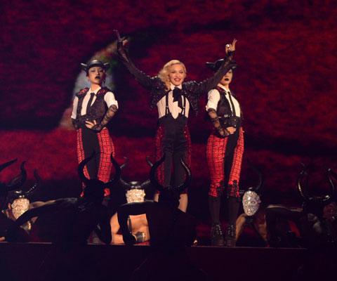 「ブリット・アワード2015」でのマドンナ