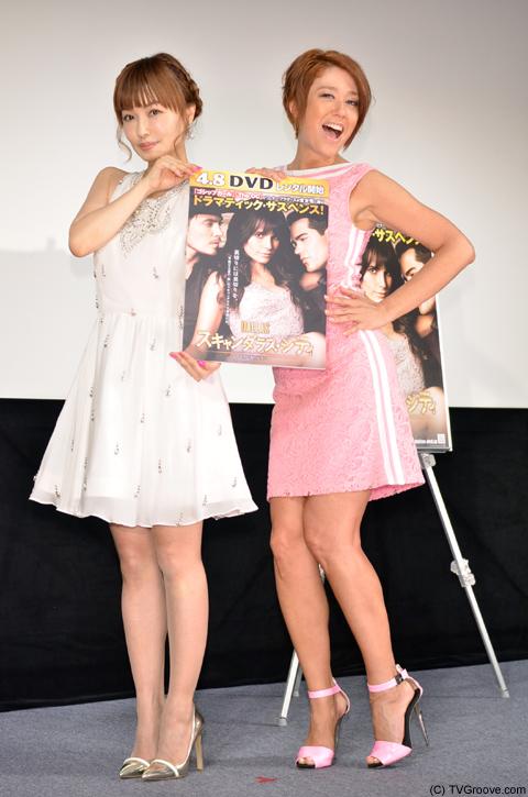 平子理沙(左)、LiLiCo