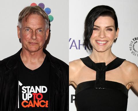 「NCIS」でギブス役を演じるマーク・ハーモン(左)、「グッド・ワイフ」でアリシア役を演じるジュリアナ・マルグリーズ(右)