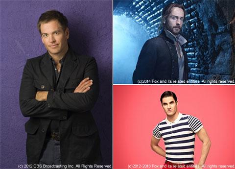 左:NCIS ~ネイビー犯罪捜査班 S11、右:スリーピー・ホロウ S2(上)、Glee S4(下)