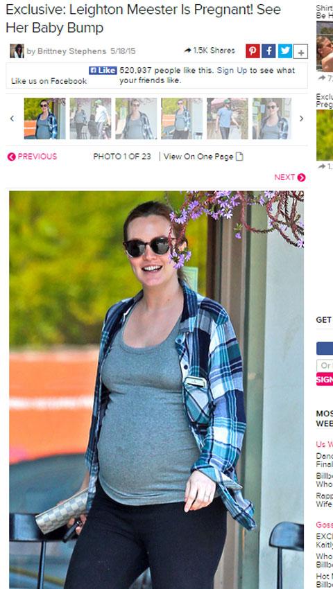 妊娠中のレイトン