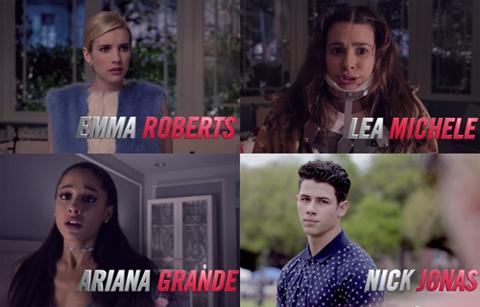 話題の新ドラマ「Scream Queens」予告編ロングverがついに公開! リア・ミシェル、アリアナ・グランデ、ニック・ジョナスら人気スターが大集結