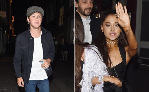 5月1日、1Dナイル(左)とアリアナ(右)は市内のクラブでパーティーを楽しんだ。写真はその時、撮られたもの