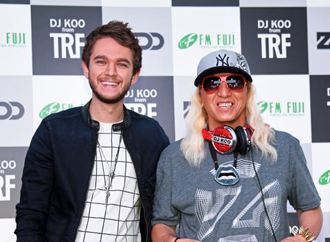 ゼッド(左)、DJKOO
