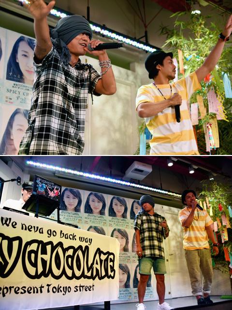 「ずっとマイラブ」を歌うHAN-KUN(左)、TEE