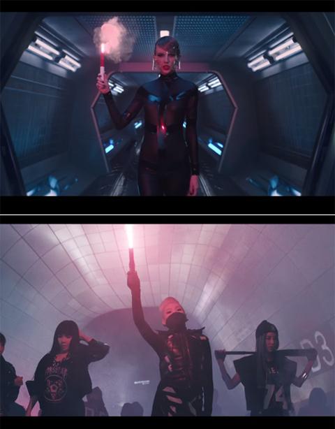 テイラー・スウィフト「バッド・ブラッド」(上)、2NE1「Come Back Home」(下)
