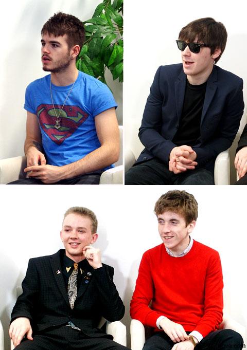 上段左:ジョシュ、同右:ロス、下段左から:エヴァン、ピート