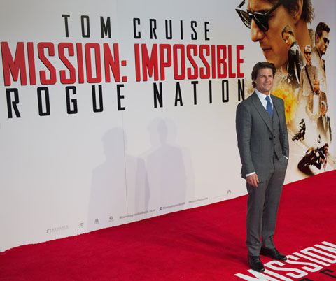 トム・クルーズ 「ミッション:インポッシブル/ローグ・ネイション」ニューヨークプレミアにて