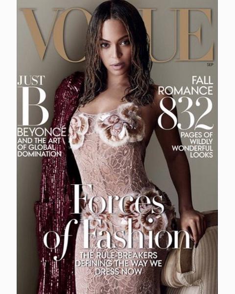 ビヨンセが飾った、「VOGUE」9月号のカバー