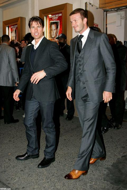 トム・クルーズ(左)、デヴィッド・ベッカム