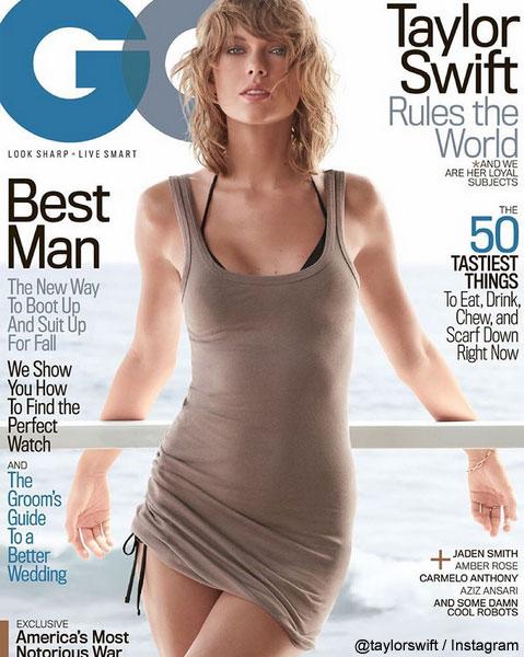 テイラー・スウィフトが登場した、「GQ」誌のカバー