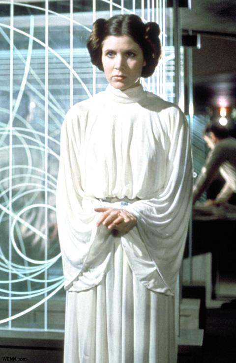 キャリー演じる、レイア姫 「スター・ウォーズ エピソード4/新たなる希望」より