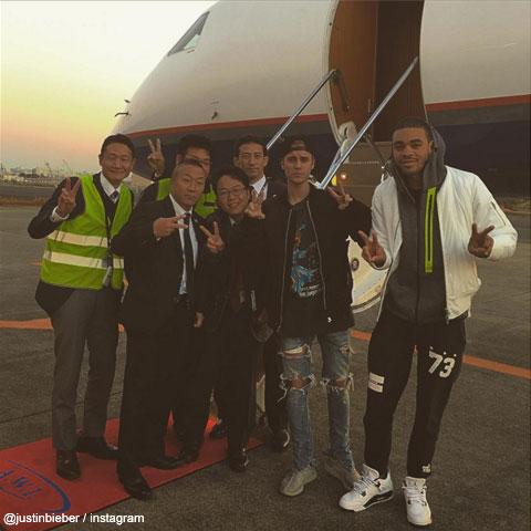 羽田空港で撮影された、ジャスティン・ビーバーの写真 / @justinbieber Instagram
