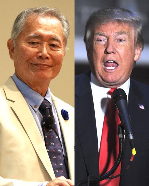 ジョージ・タケイ(左)、ドナルド・トランプ(右)
