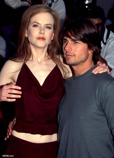 離婚前のニコール・キッドマン(左)とトム・クルーズ(右) (1999年)