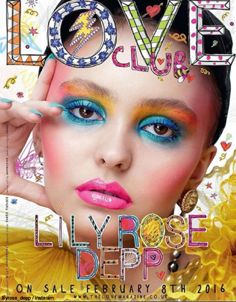 雑誌「LOVE」の表紙を飾った リリー=ローズ