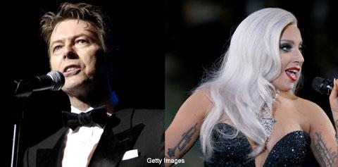 デヴィッド・ボウイ(左)、レディー・ガガ(右) Getty Images