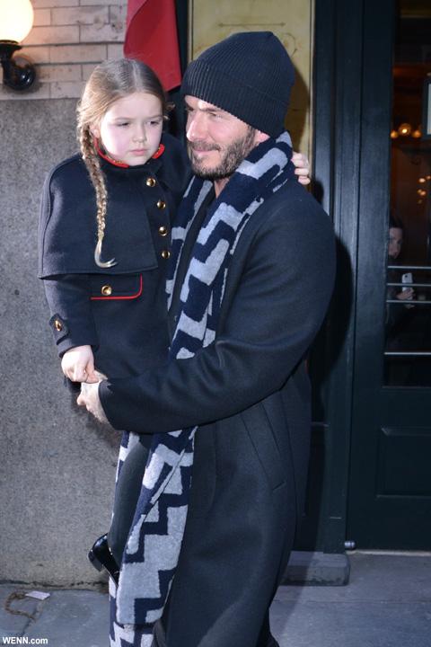 デヴィッド・ベッカムと、娘ハーパー