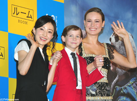 (左から)菅野美穂、ジェイコブ・トレンブレイ、ブリー・ラーソン (C)TVGroove.com